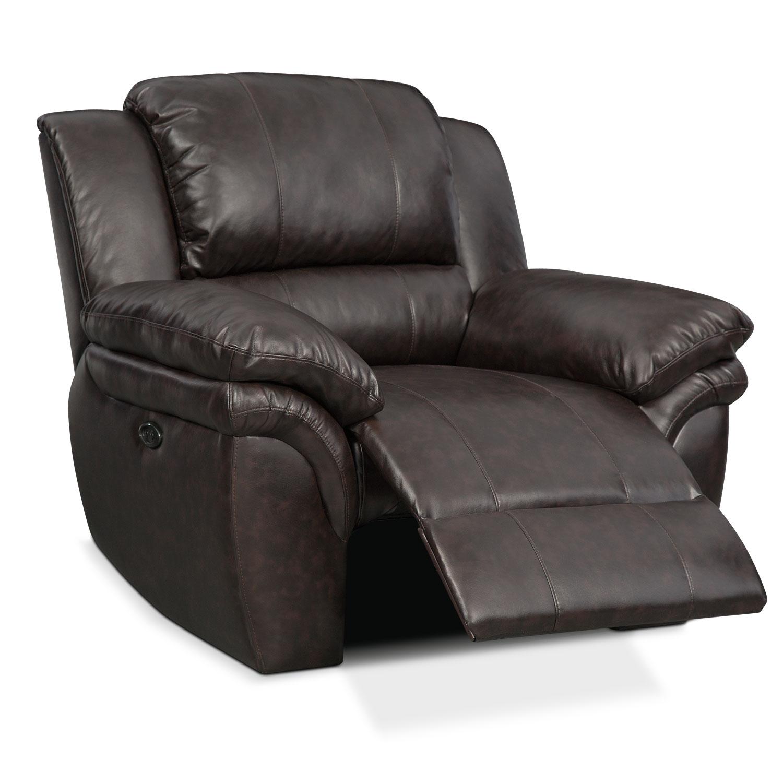 Value City Furniture Recliners: Aldo Power Recliner - Brown