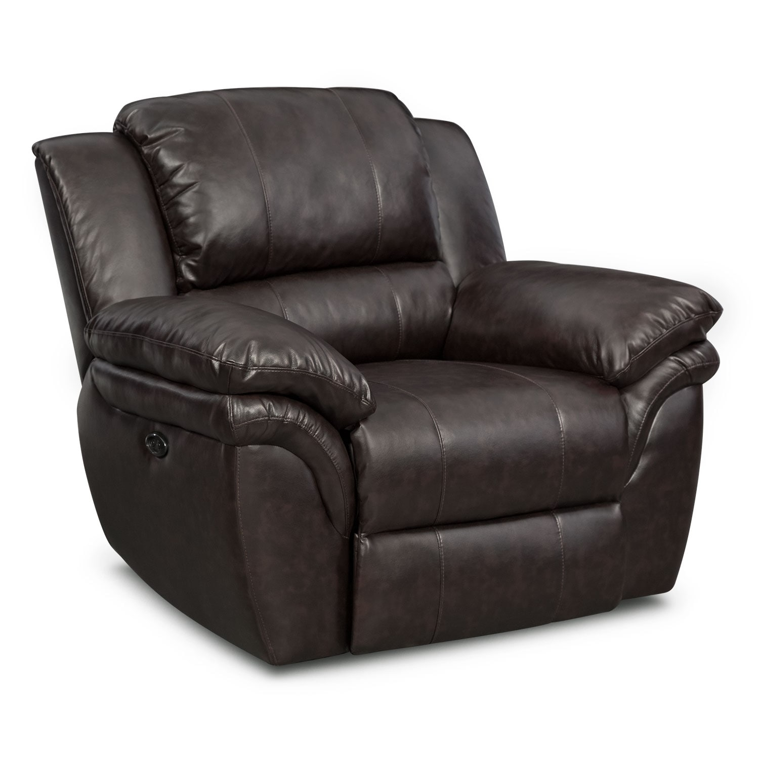 Aldo power reclining sofa loveseat and recliner set brown american signature furniture Power loveseat recliner