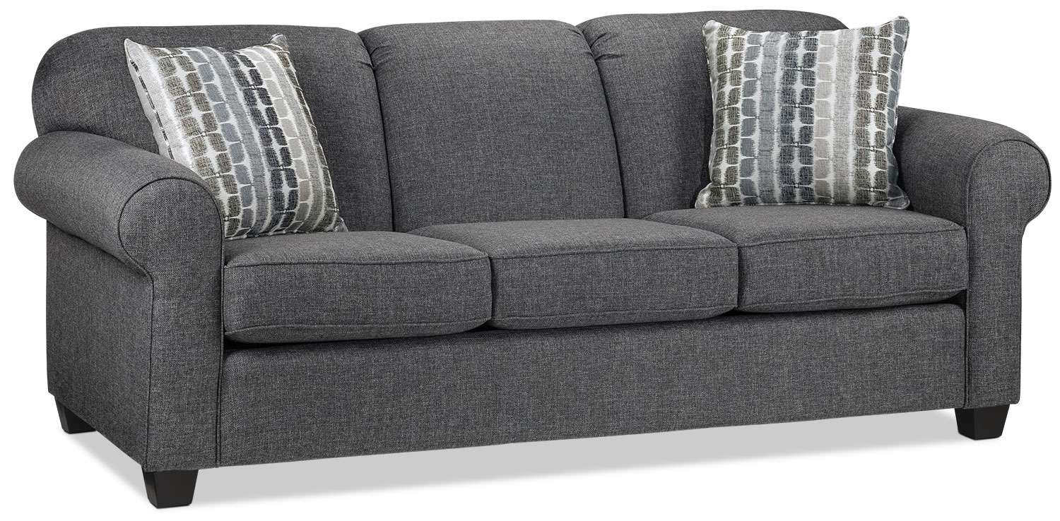 Living Room Furniture - Aristotle Sofa - Grey
