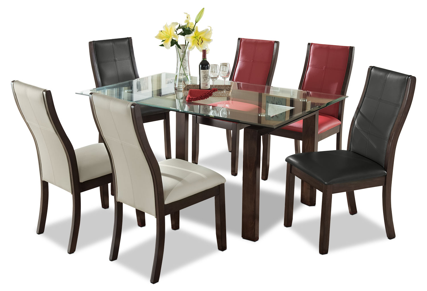 Dining Room Furniture - Tyler 7-Piece Dining Package – Assorted Colours