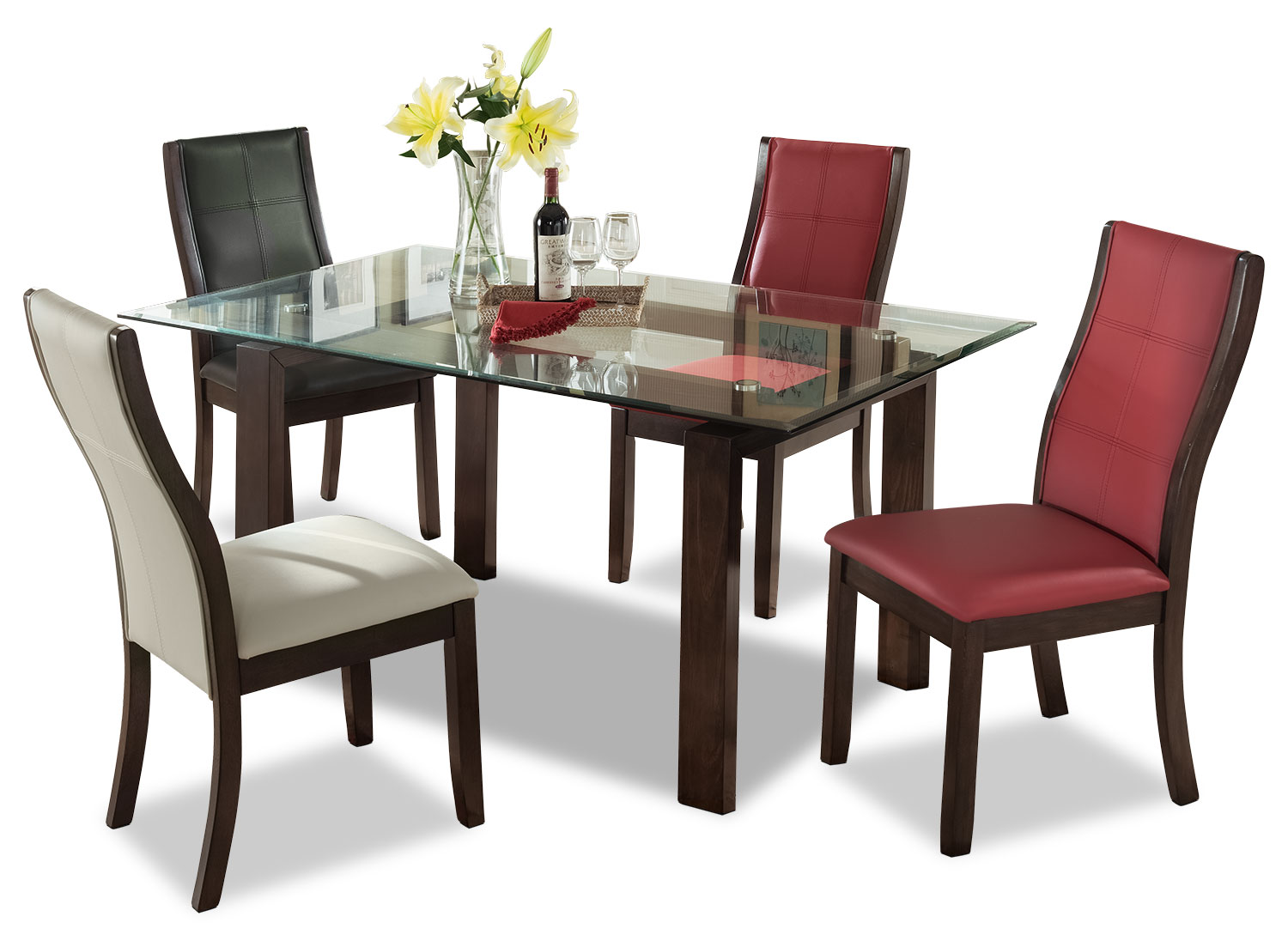 Dining Room Furniture - Tyler 5-Piece Dining Package – Assorted Colours