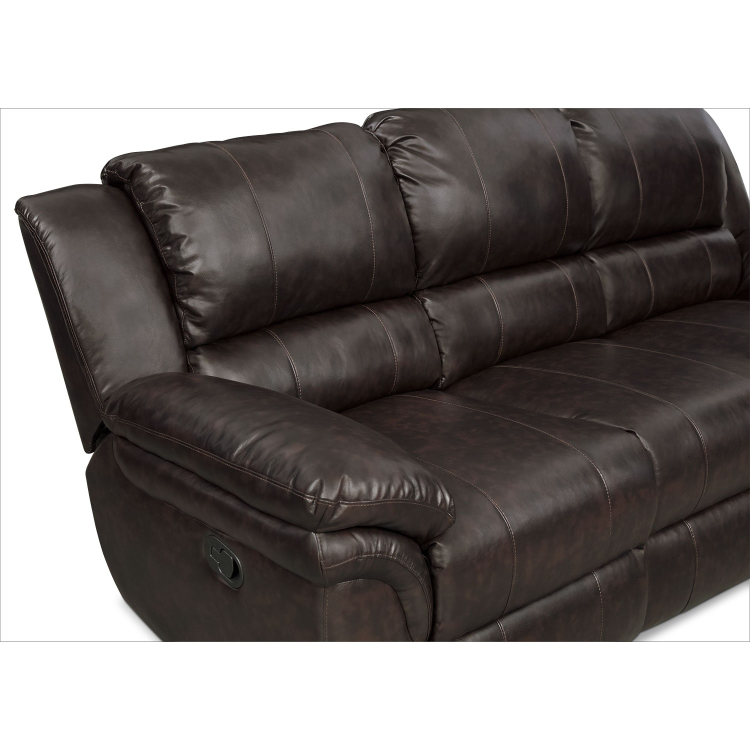 Aldo Manual Dual Reclining Sofa Loveseat And Recliner Set Brown Value City Furniture
