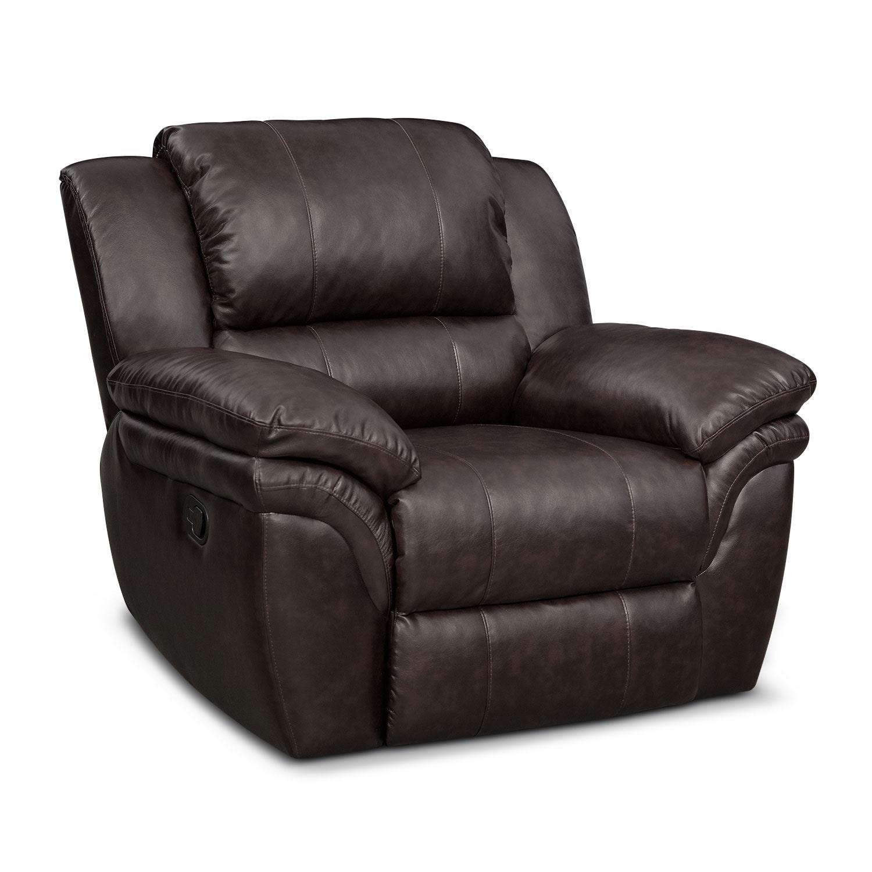 Aldo Manual Dual Reclining Sofa Loveseat And Recliner Set Brown American Signature Furniture