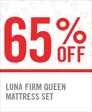 65% OFF LUNA FIRM QUEEN MATTRESS SET