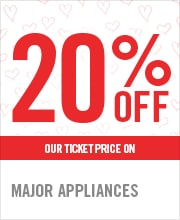 20% OFF MAJOR APPLIANCES