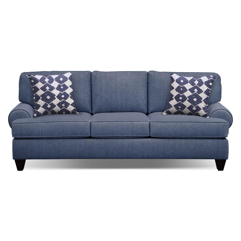 Bailey Blue 91 Innerspring Sleeper Sofa Value City