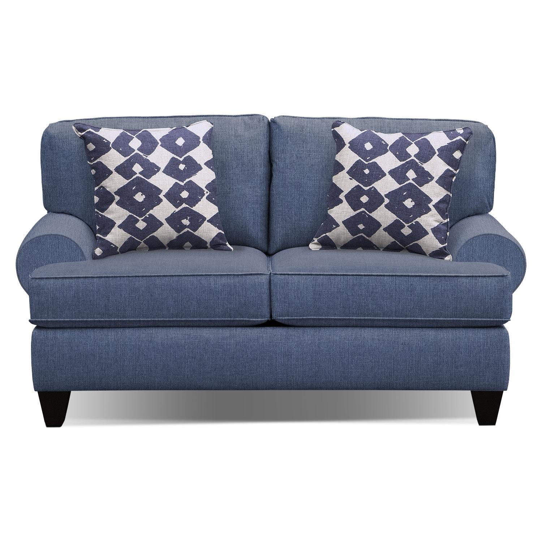 Bailey Blue 67 Innerspring Sleeper Sofa Value City