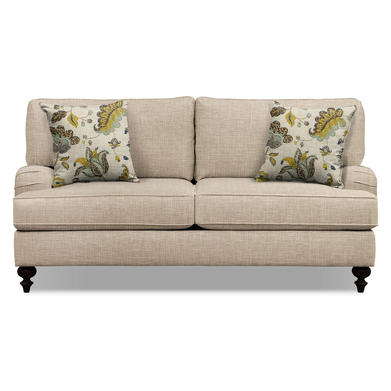 "Avery Taupe 74"" Memory Foam Sleeper Sofa | American ..."