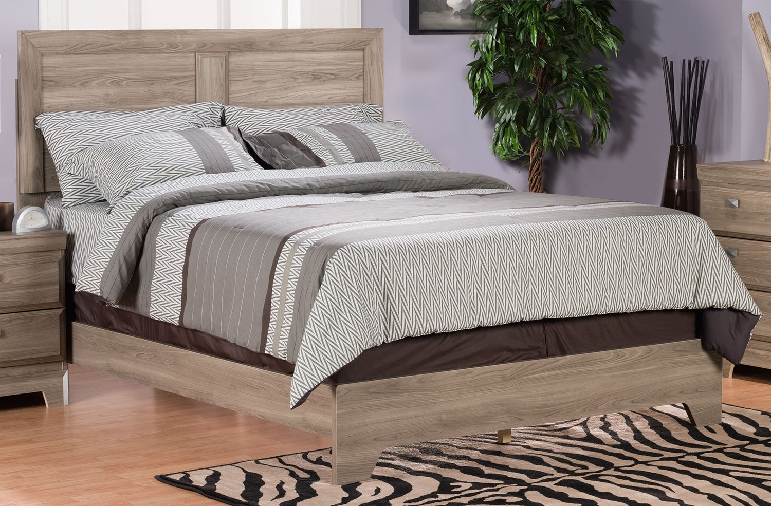 Bedroom Furniture - Yorkdale Light Queen Panel Bed