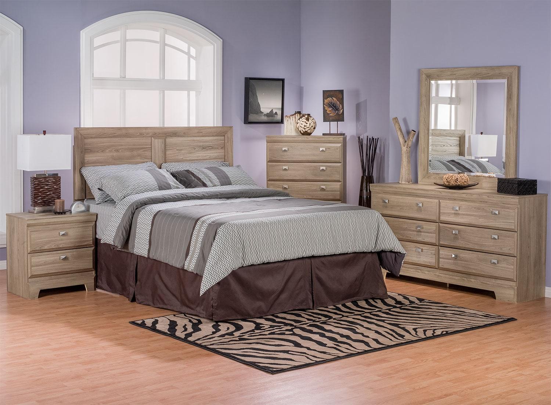 Bedroom Furniture - Yorkdale Light 5-Piece Queen Bedroom Package