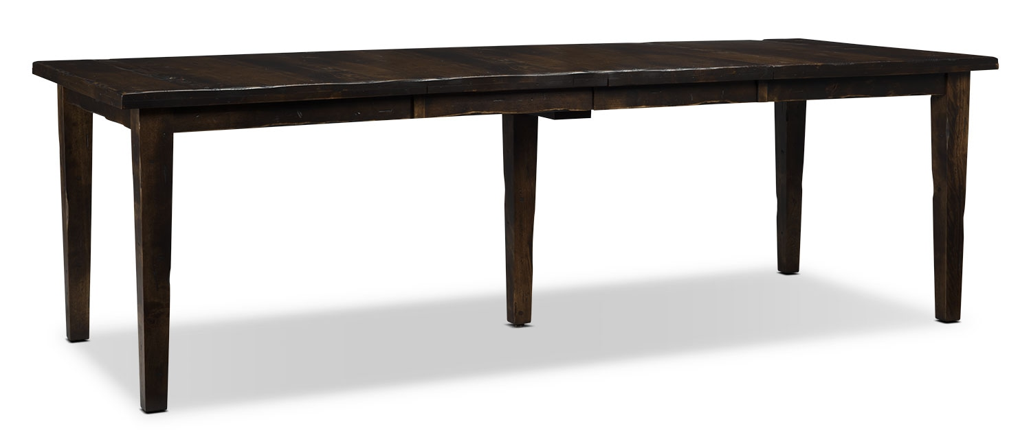 Bordeaux Dining Table, Double Leaf – Truffle