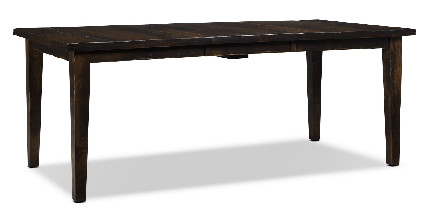 Bordeaux Dining Table, Single Leaf – Truffle