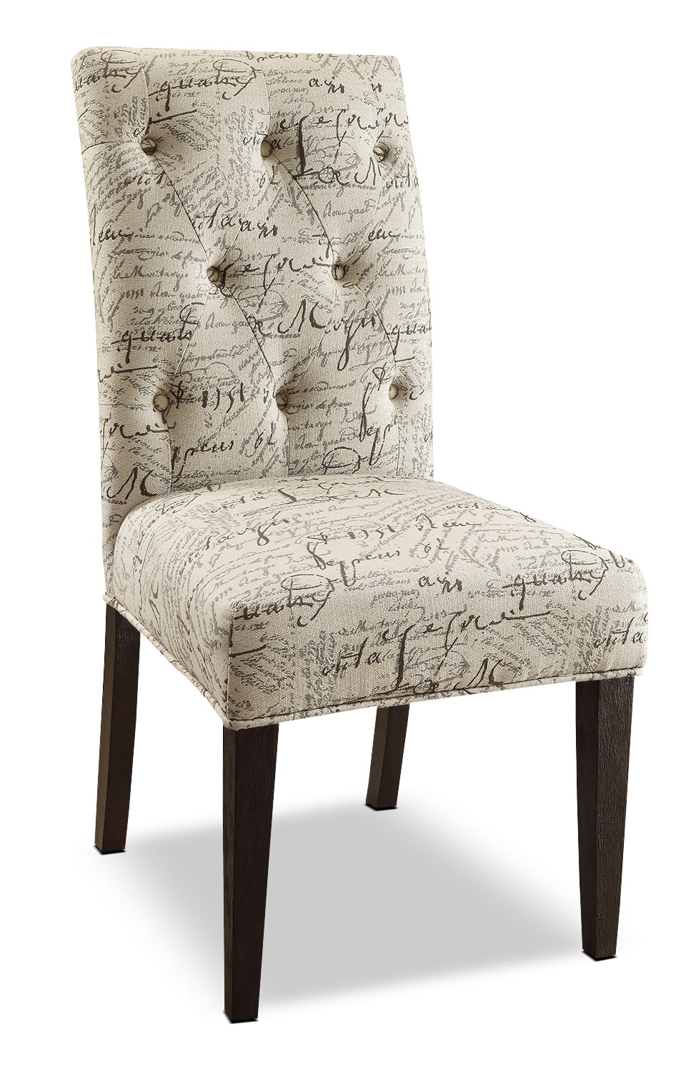 French Country Script Chairs ~ French script piece accent dining chair package the brick