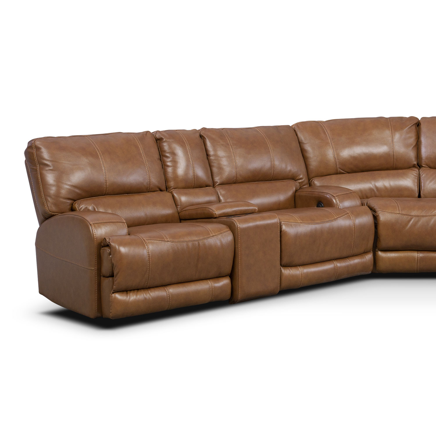 Barton 3 Piece Power Reclining Sectional With 2 Consoles