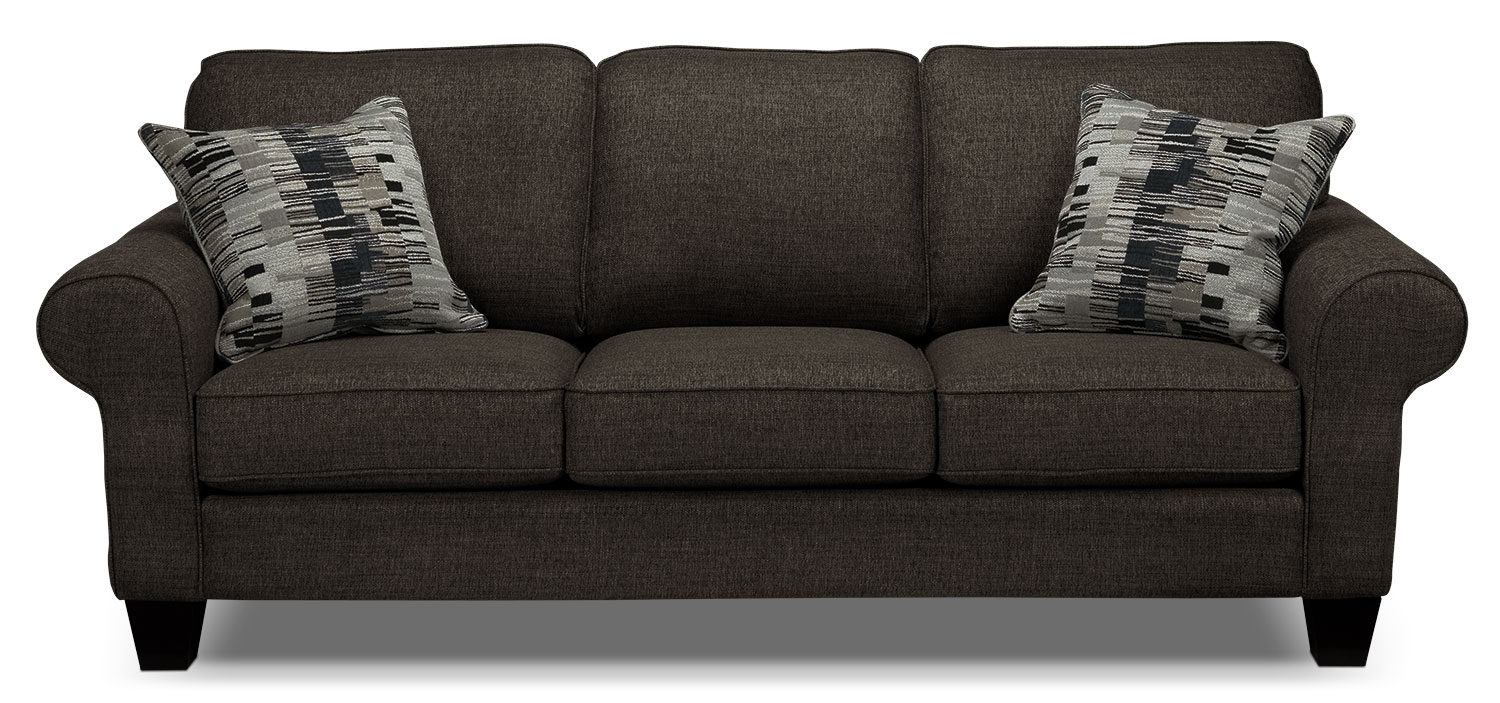 Living Room Furniture - Drake Sofa - Pewter