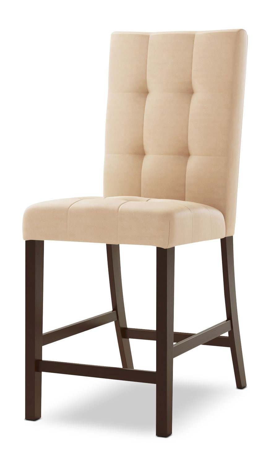bistro square tufted counter height dining chair desert
