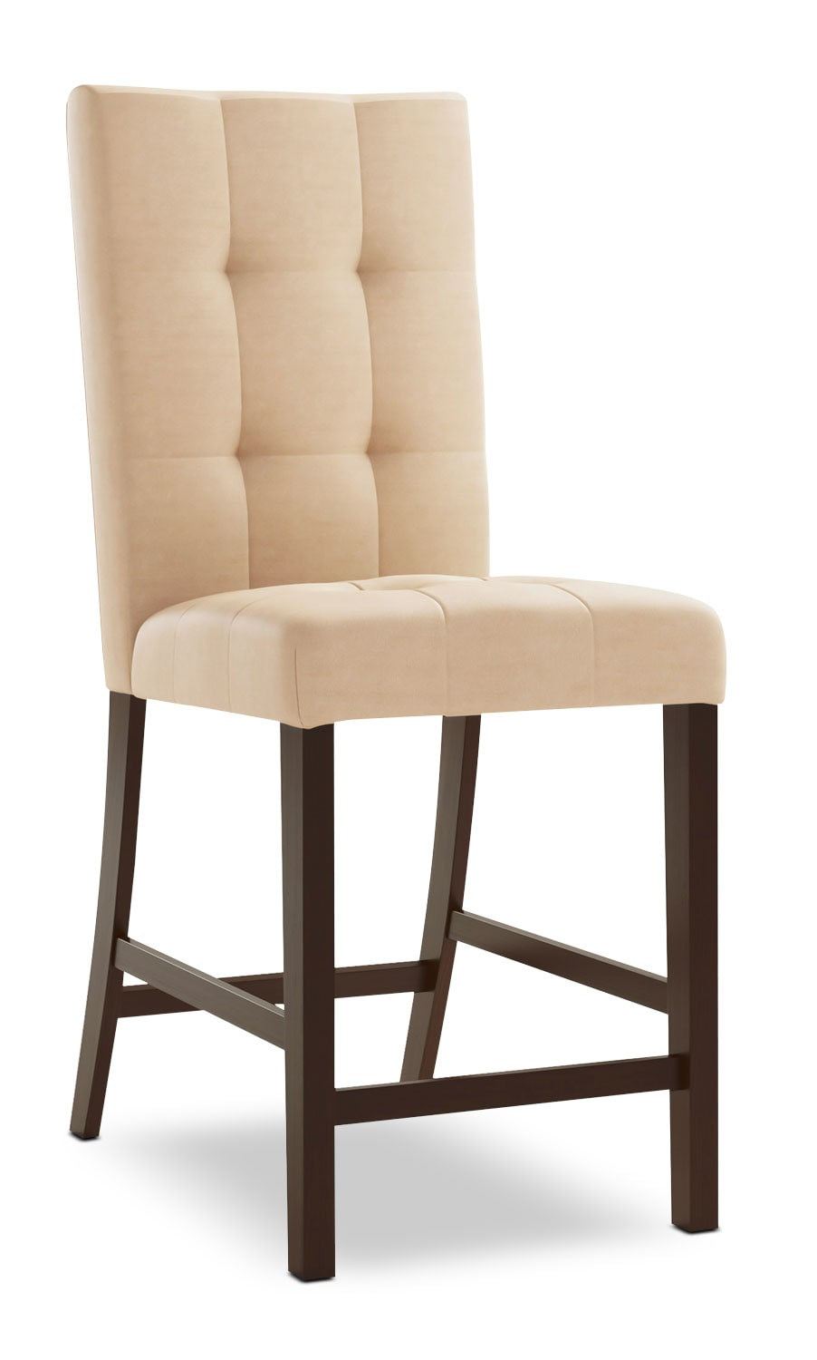 Bistro Square-Tufted Counter-Height Dining Chair – Desert Sand
