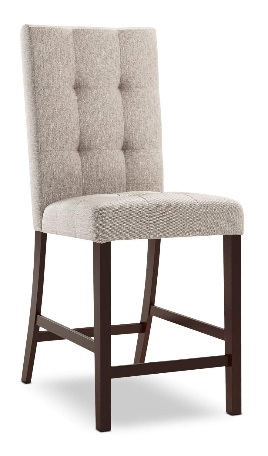 Bistro Square Tufted Counter Height Dining Chair Platinum The Brick