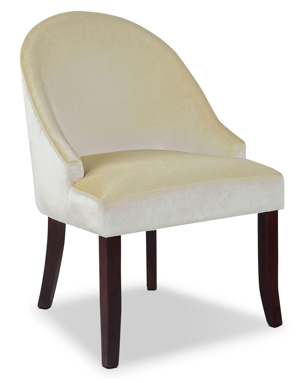 DAD Velvet Fabric Accent Chair – Cream