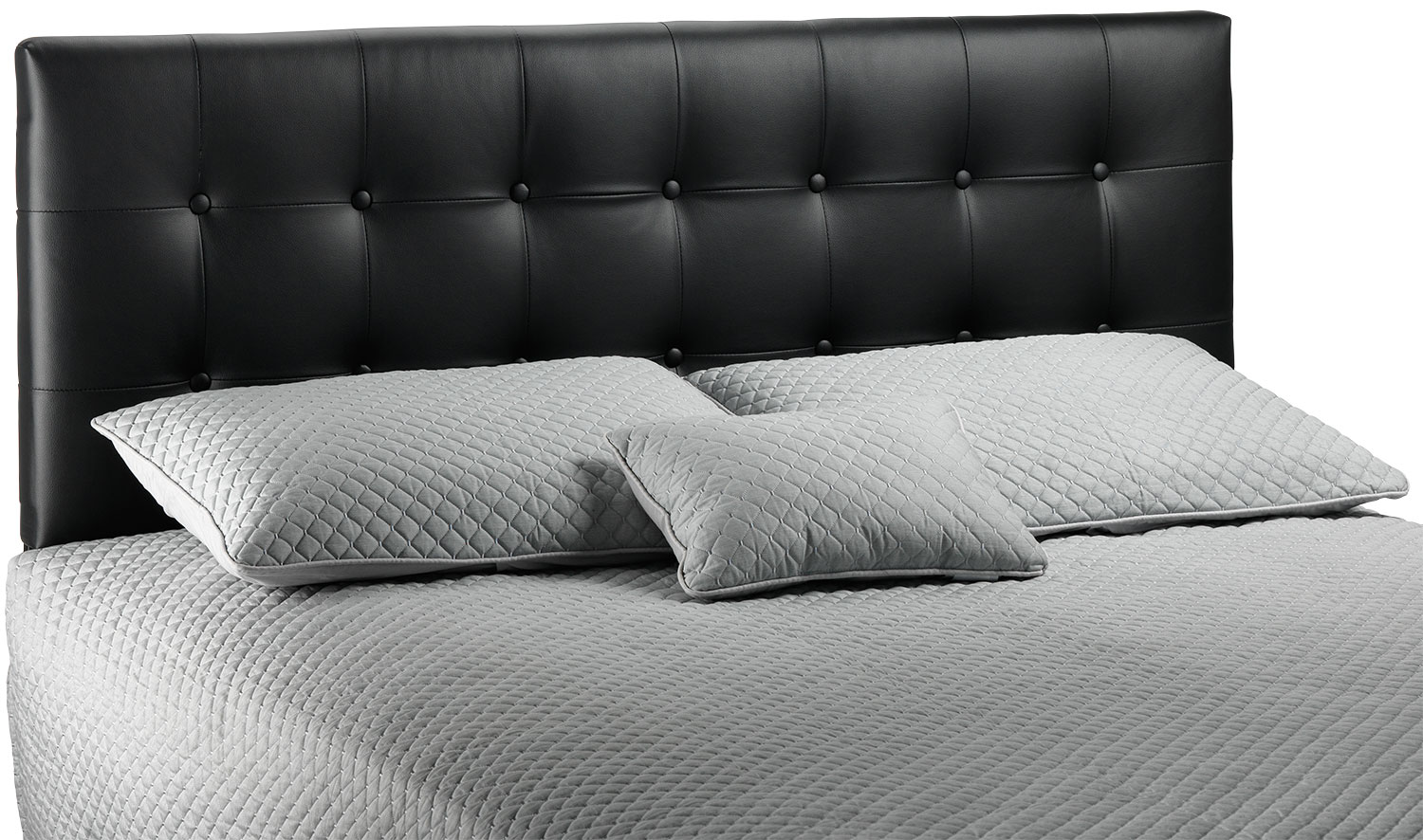 Bedroom Furniture - Lombardi King Headboard - Black