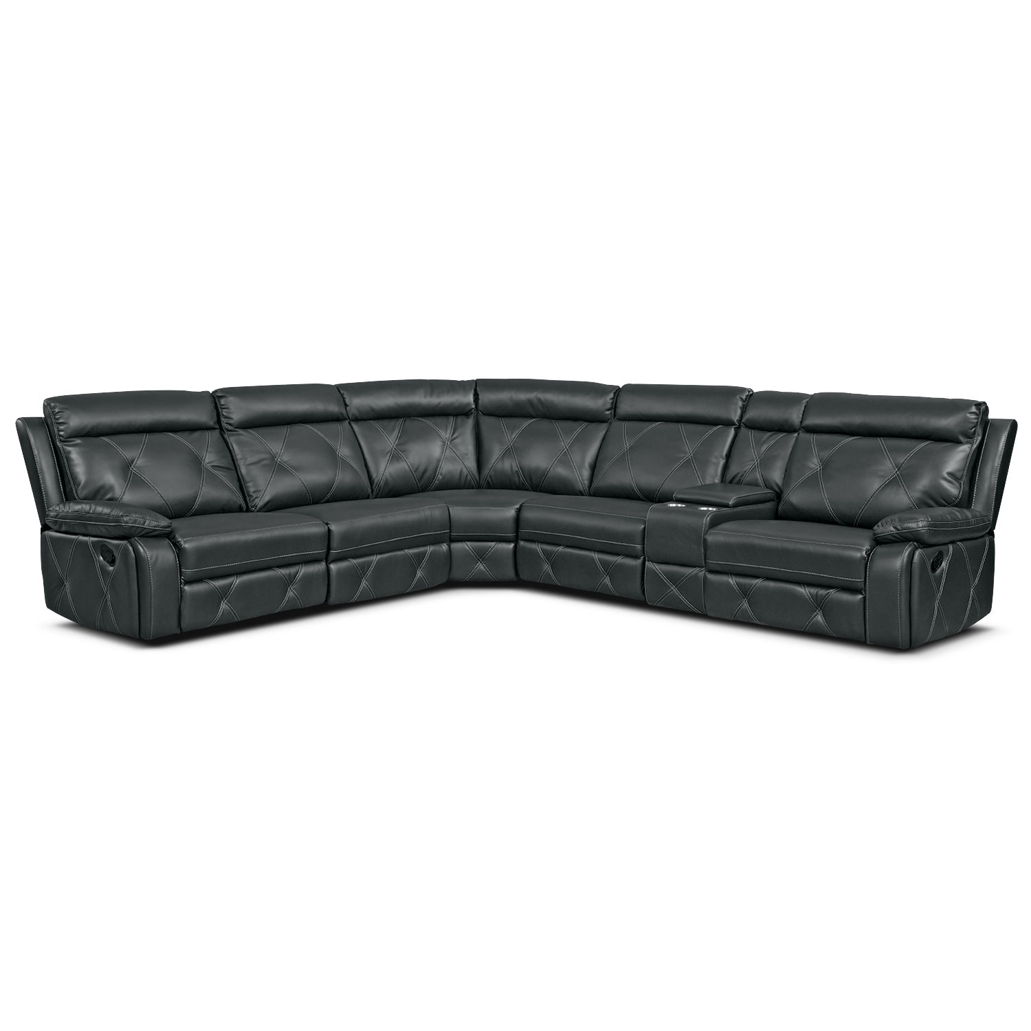 Dante 6 Piece Reclining Sectional With 3 Reclining Seats