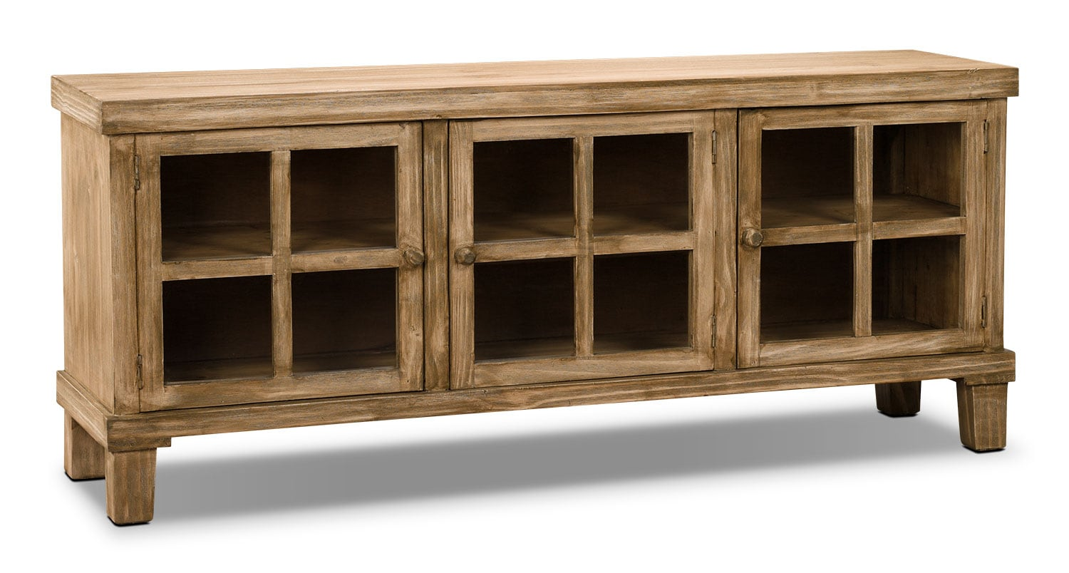 "Entertainment Furniture - Vicenza 62"" Solid Pine TV Stand"