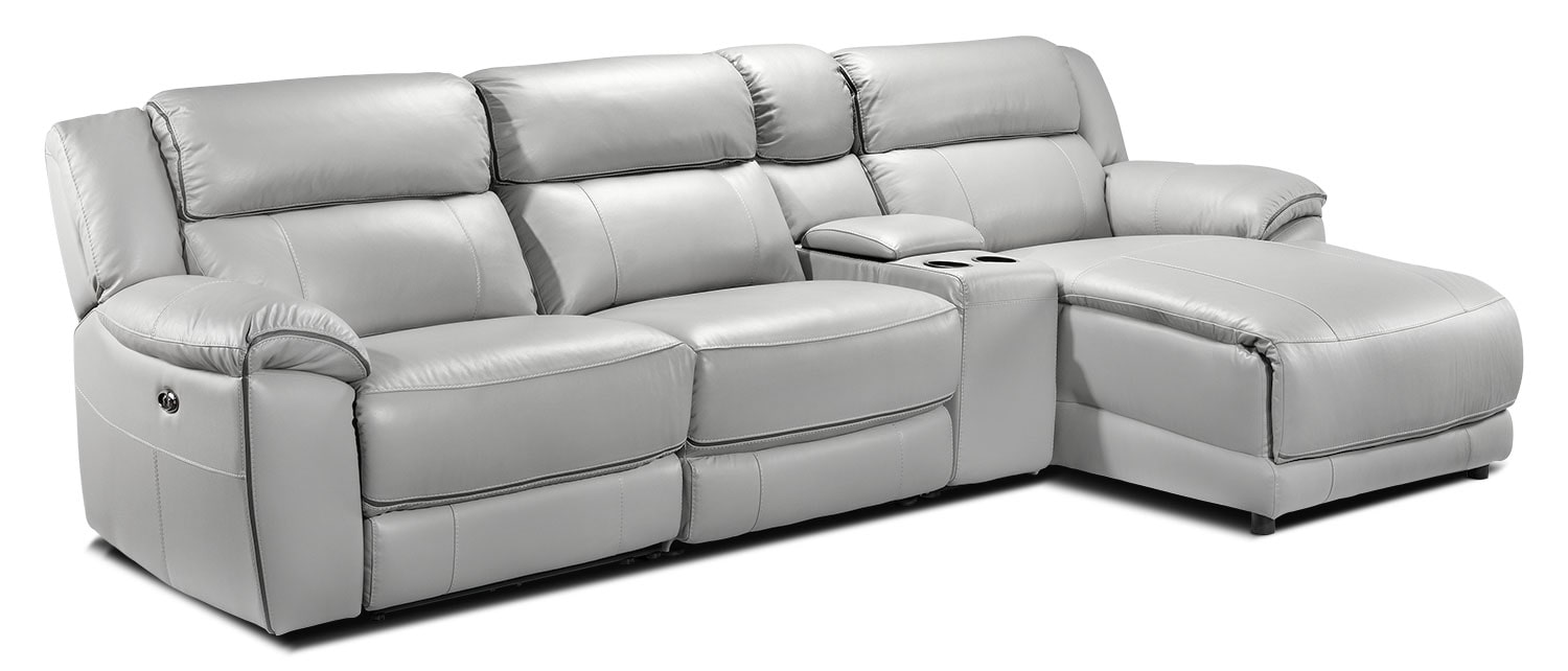 Holton 4-Piece Sectional with Right-Facing Chaise - Grey