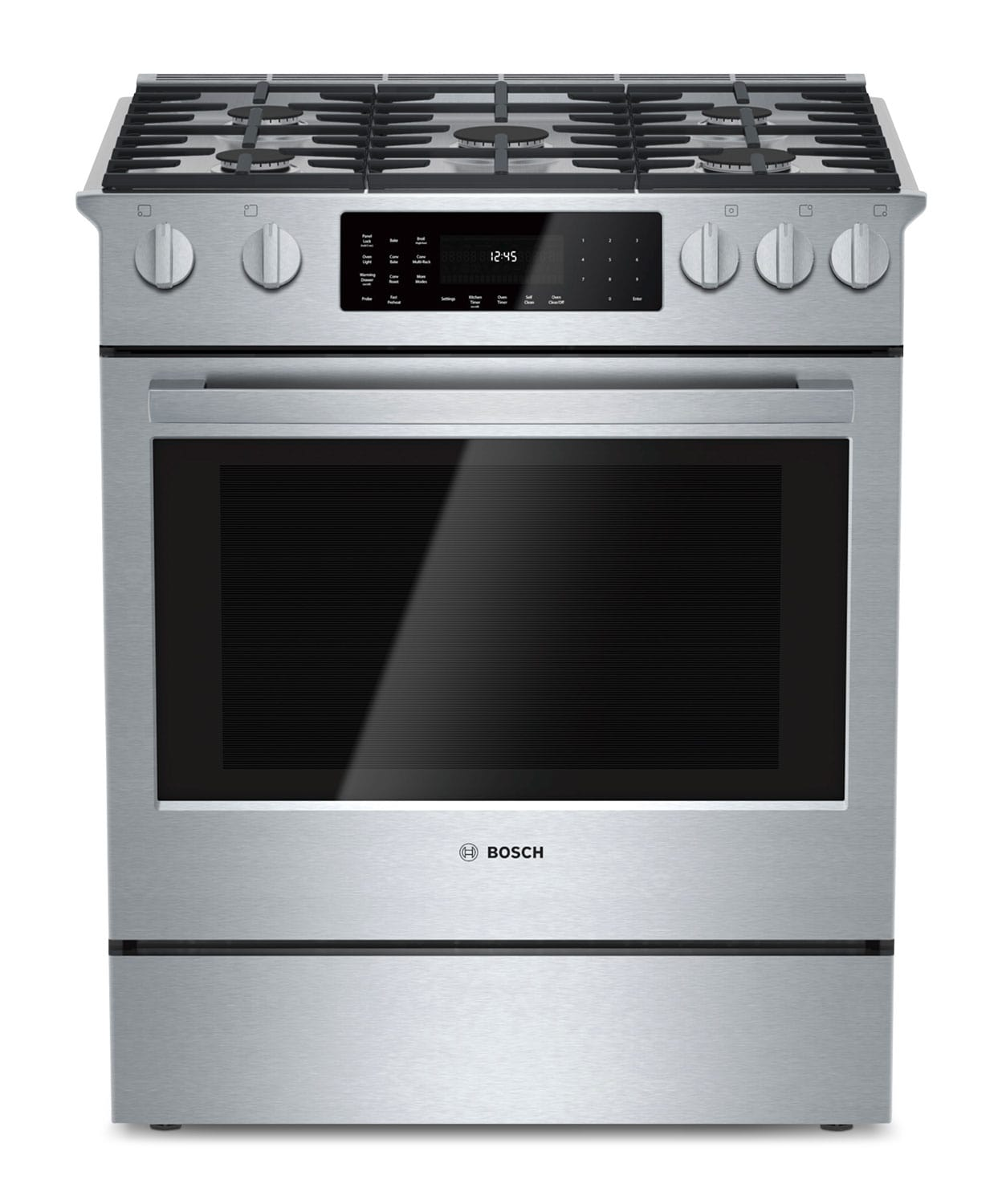 Bosch 800 Series 4.6 Cu. Ft. Slide-In Dual-Fuel Range – HDI8054C