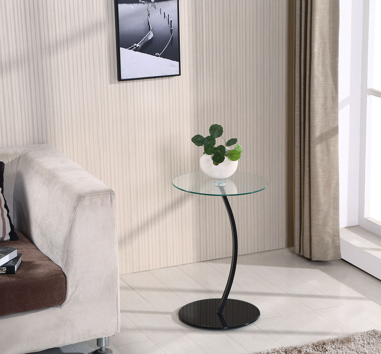 Pick Up End Table Lamps For Living Room Kmart: Dawson Single-Leg Accent Table – Black