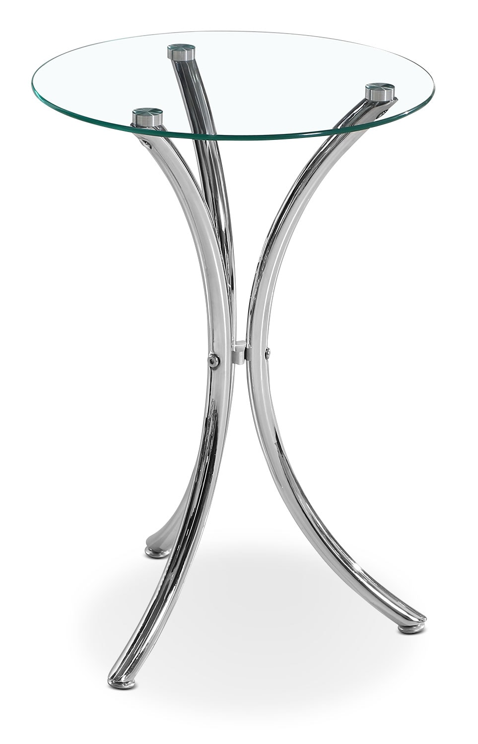 Accent and Occasional Furniture - Dawson Tri-Leg Accent Table – Chrome