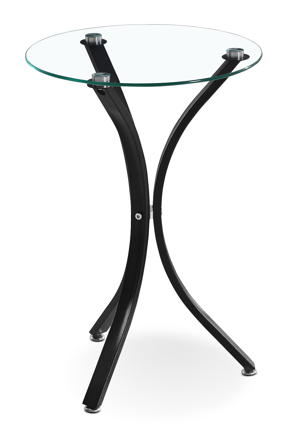 Dawson Tri-Leg Accent Table – Black
