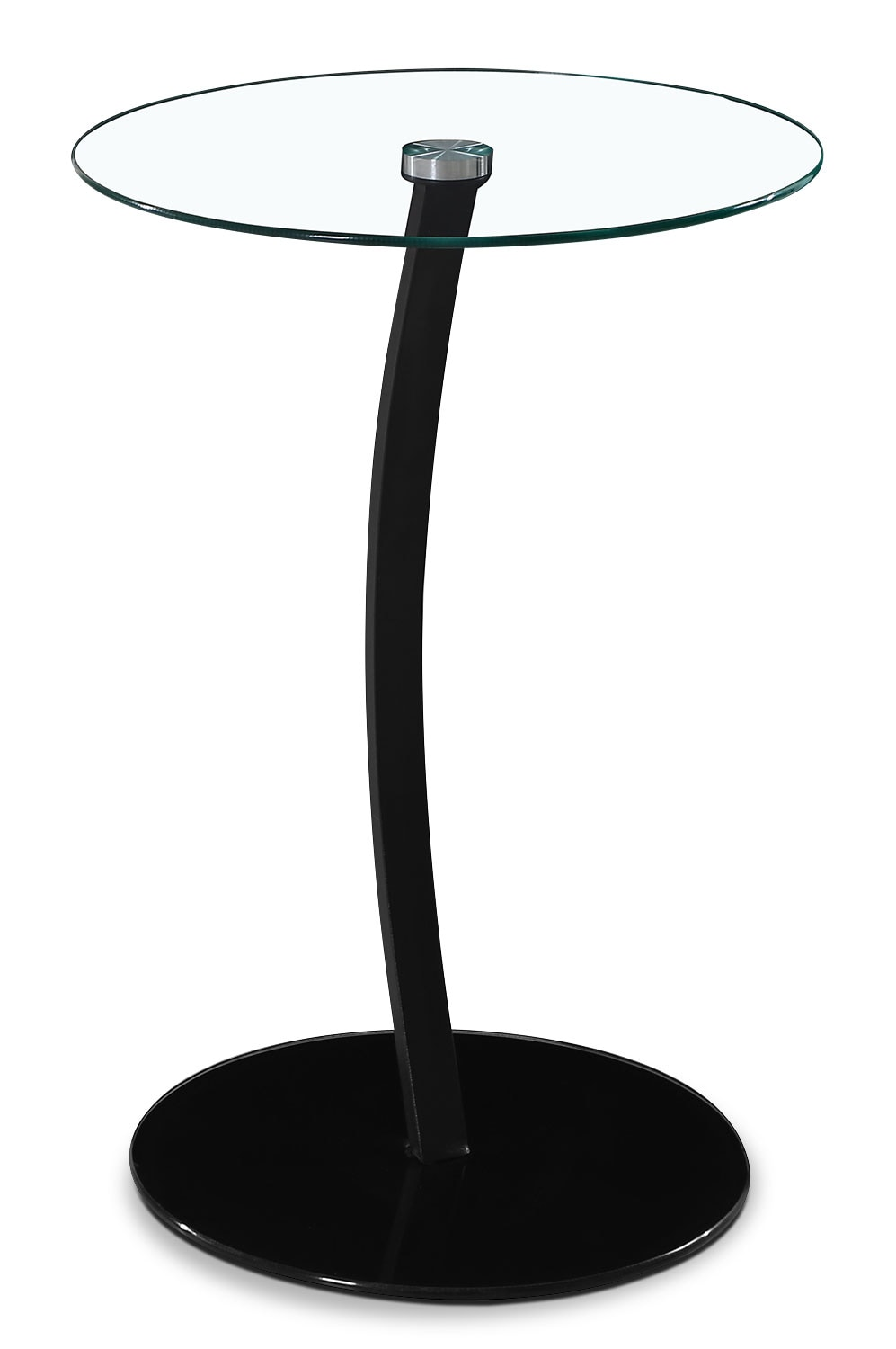 Accent and Occasional Furniture - Dawson Single-Leg Accent Table – Black