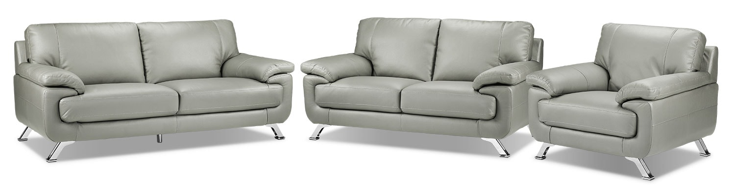 Infinity Sofa, Loveseat and Chair Set - Light Grey