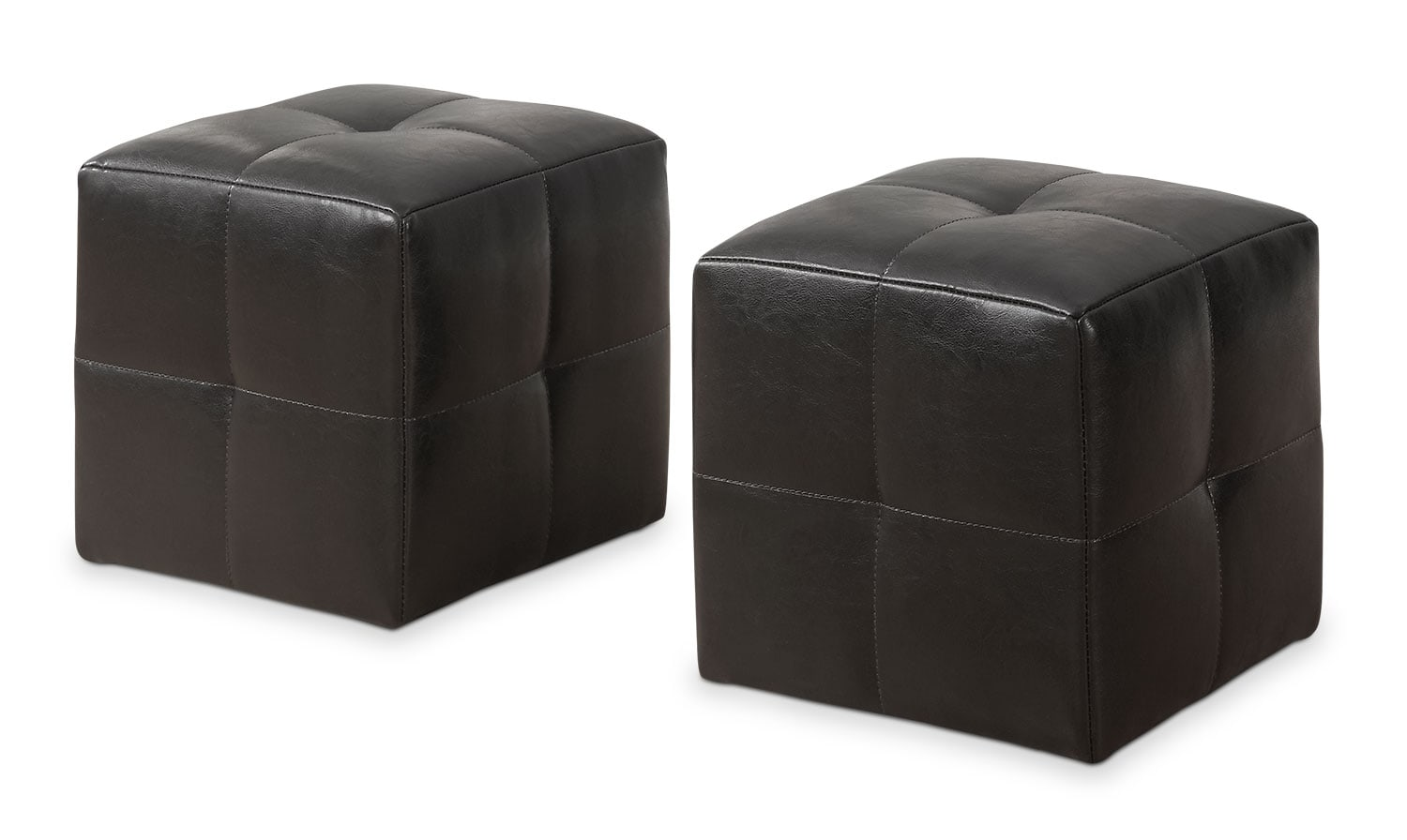 Kids Furniture - Monarch Children's 2-Piece Ottoman Set – Dark Brown