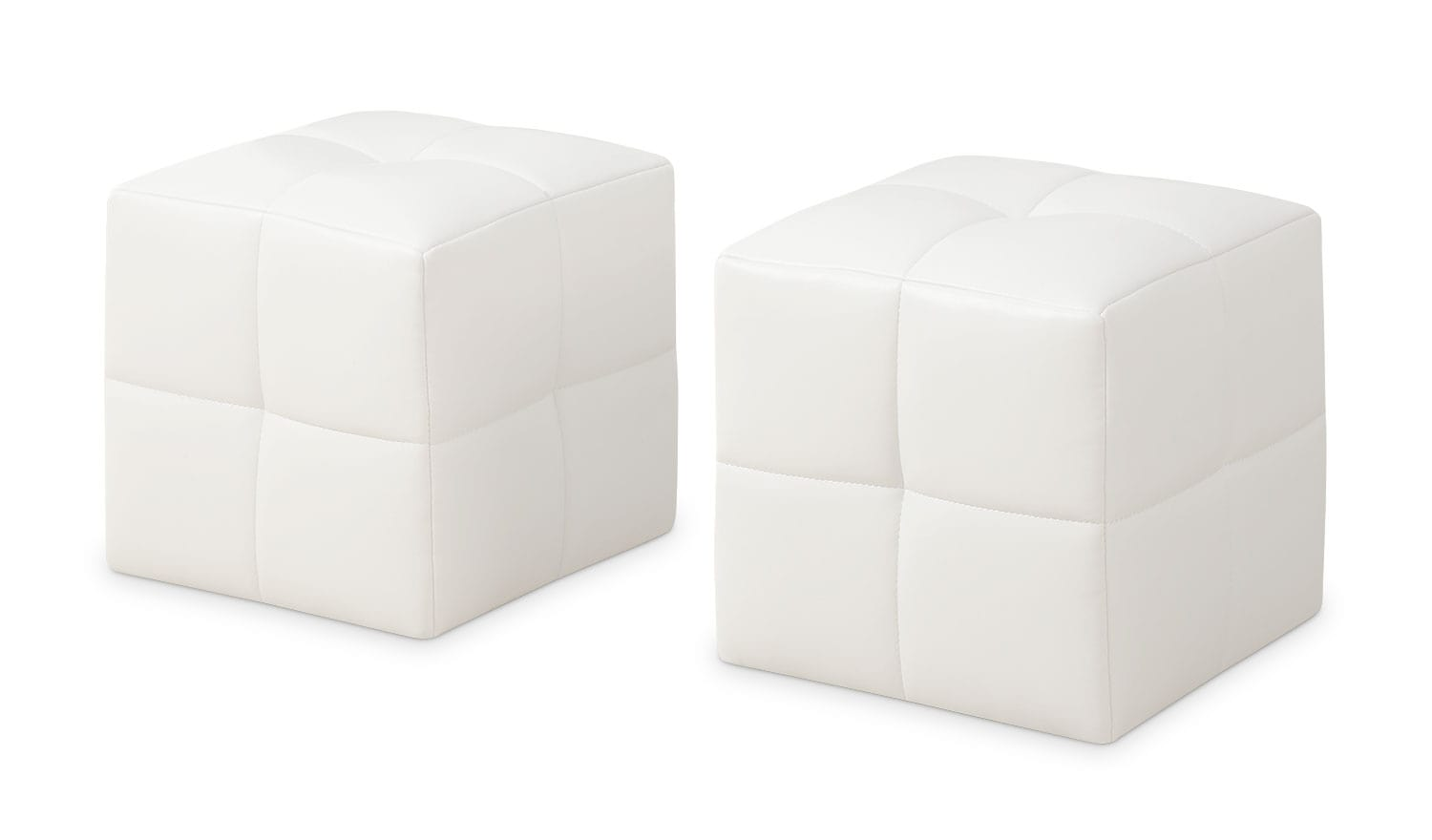 Monarch Children's 2-Piece Ottoman Set – White