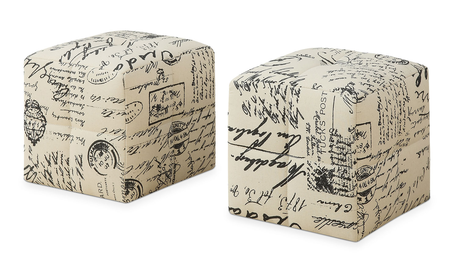 Monarch Children's 2-Piece Ottoman Set – Vintage Script