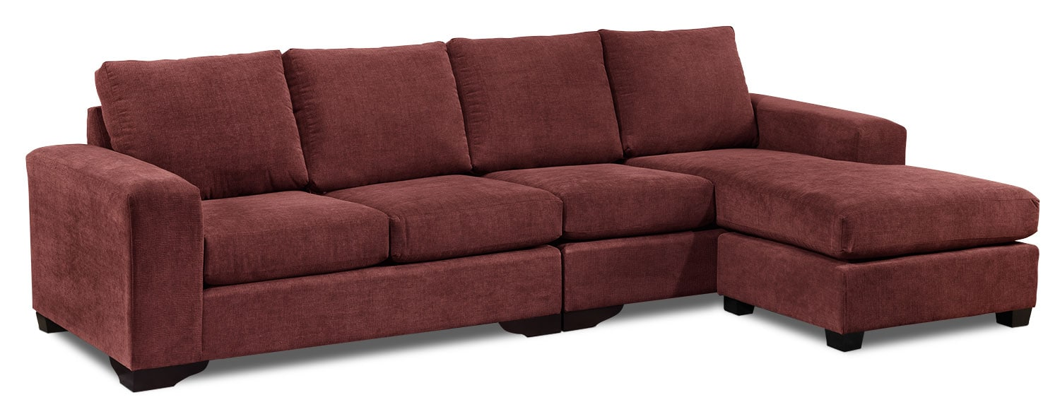 Danielle 2-Piece Sectional - Mulberry