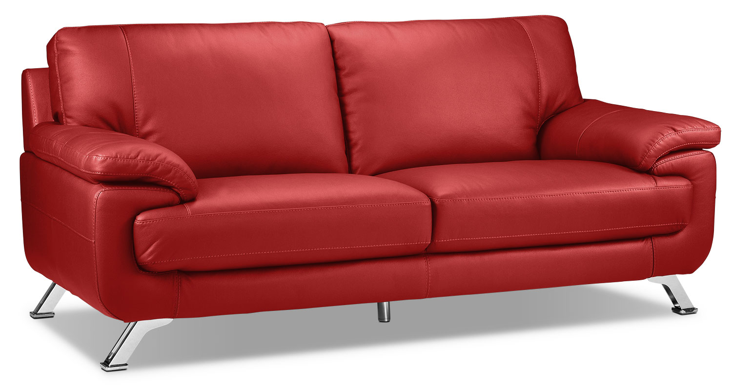 Living Room Furniture - Infinity Sofa - Red