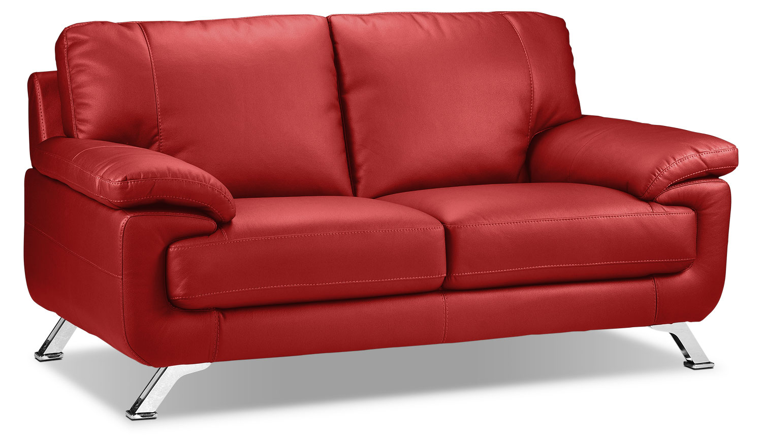 Living Room Furniture - Infinity Loveseat - Red