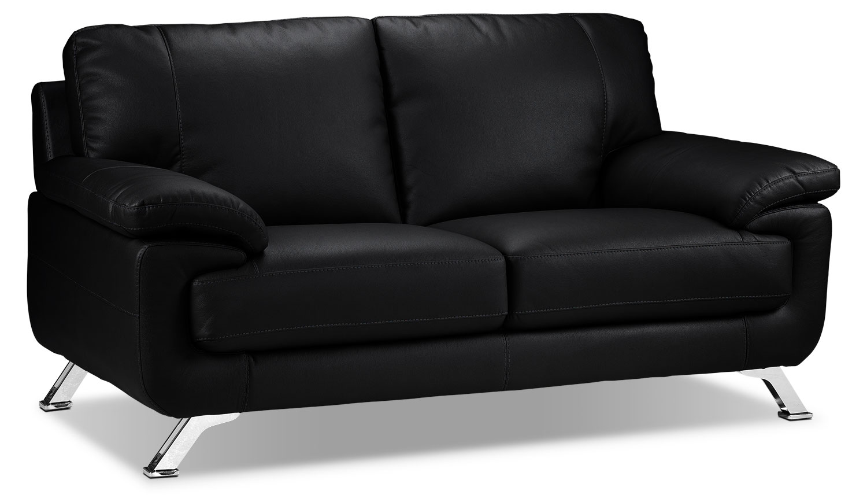 Living Room Furniture - Infinity Loveseat - Black