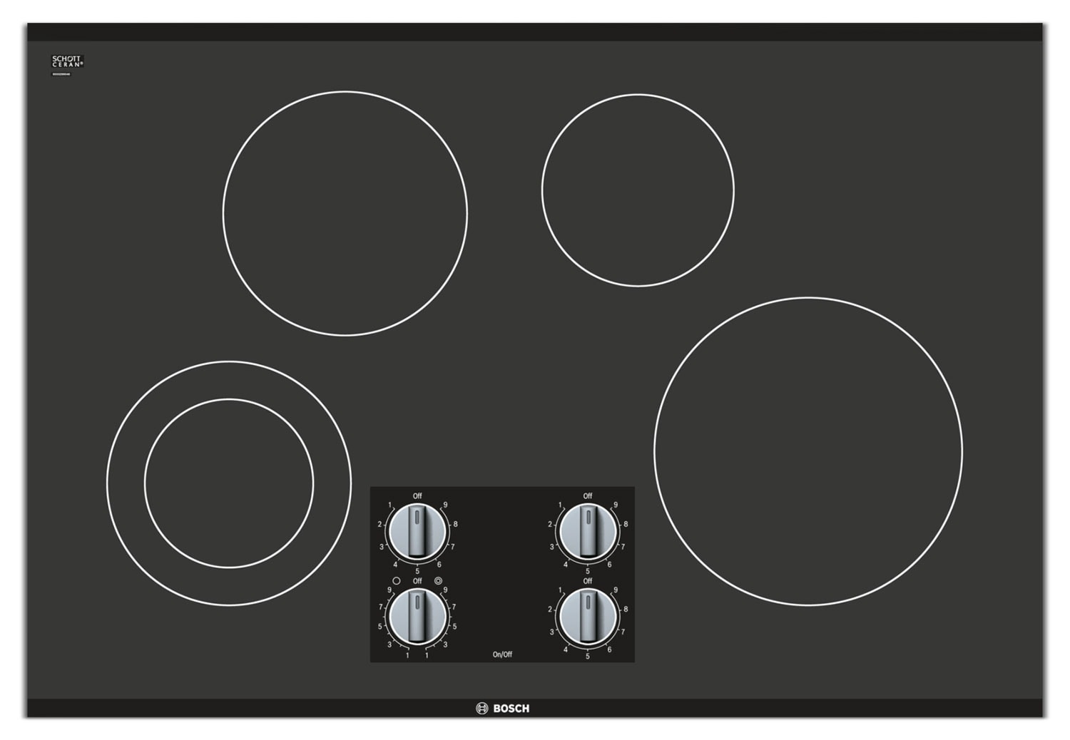 Cooking Products - Bosch Black Electric Cooktop - NEM5066UC