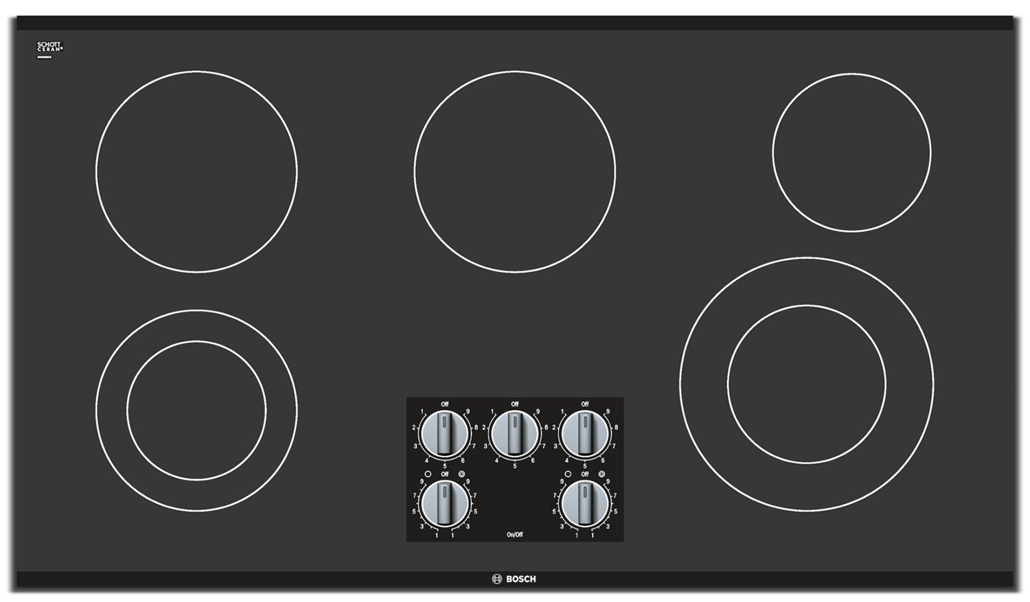 "Cooking Products - Bosch 500 Series 36"" 5-Burner Electric Cooktop – NEM5666UC"