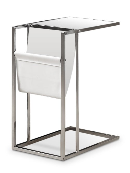 Accent and Occasional Furniture - Durham Accent Table with Magazine Rack – Chrome