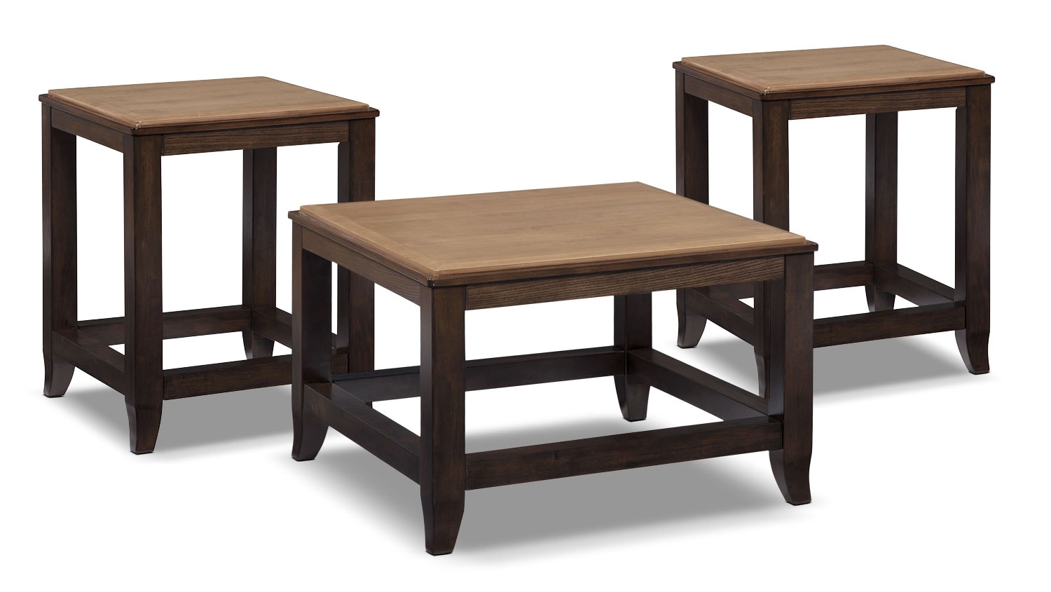 Accent and Occasional Furniture - Oslo 3-Piece Coffee and 2 End Tables Package
