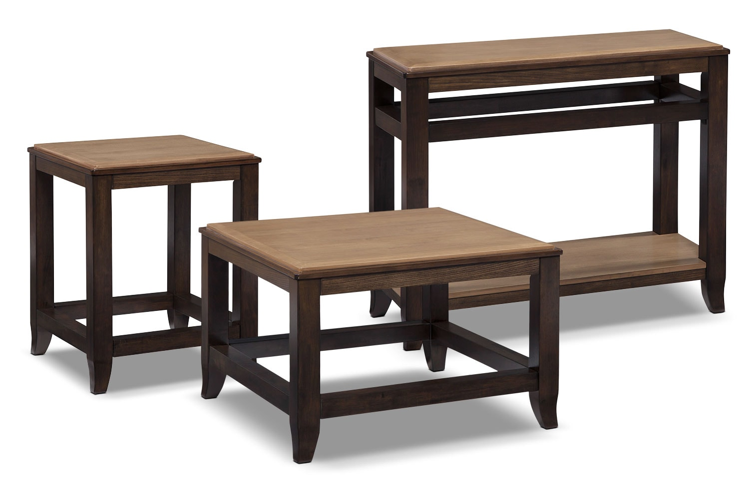 Accent and Occasional Furniture - Oslo 3-Piece Coffee, End and Sofa Table Package