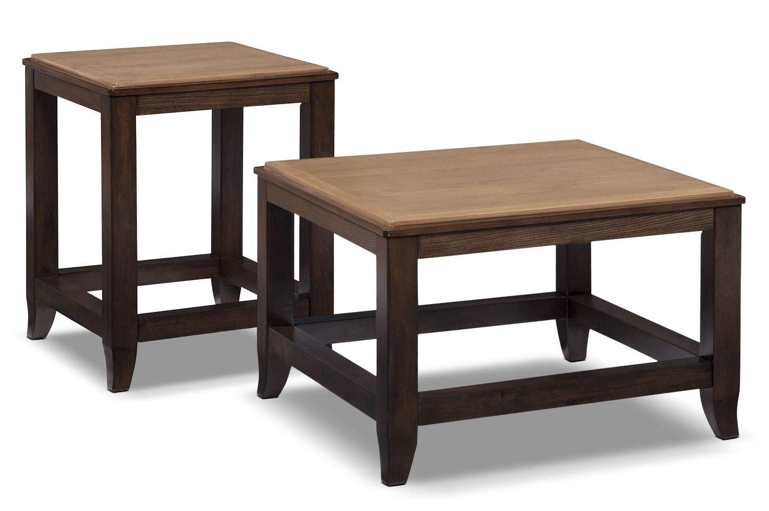 Accent and Occasional Furniture - Oslo 2-Piece Coffee and End Table Package