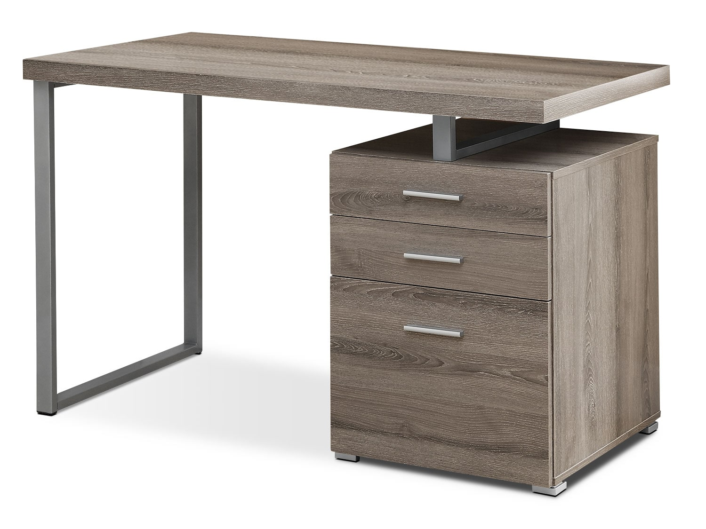 Home Office Furniture - Rimini Computer Desk – Dark Taupe