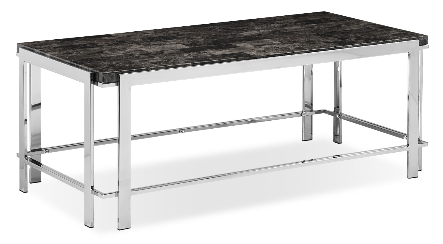 Iris Coffee Table - Chrome and Black