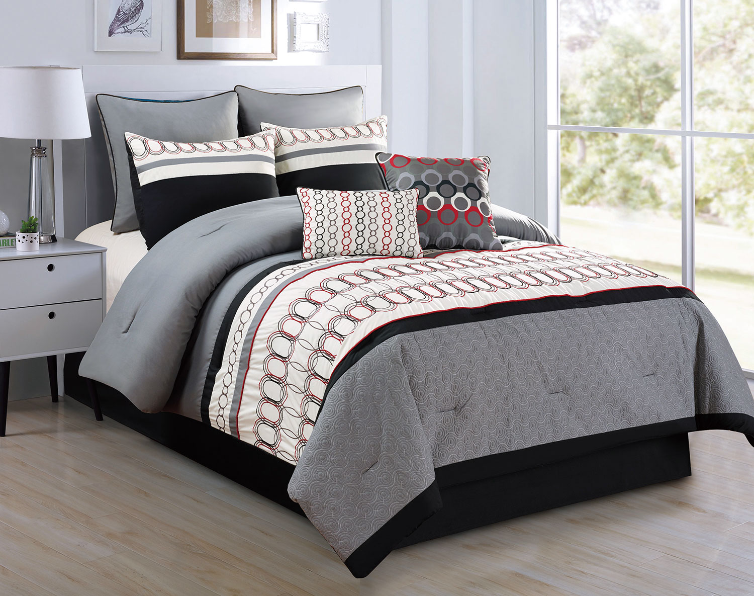 Mattresses and Bedding - Clement 8-Piece King Comforter Set