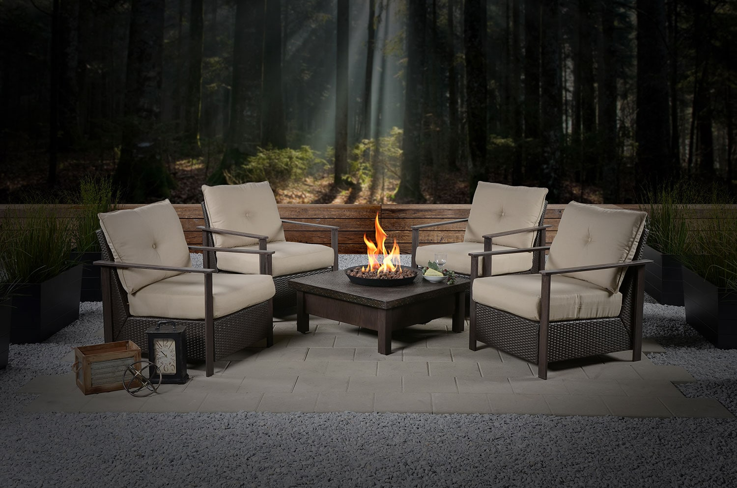 Outdoor Furniture - Larkspur 5-Piece Conversation Set